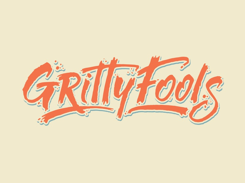 Gritty Fools Hand Lettering vector ink typography logo letters lettering hand lettering handlettering calligraphy branding