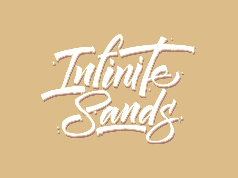 Infinite Sands Calligraphy vector ink typography logo letters lettering hand lettering handlettering calligraphy branding