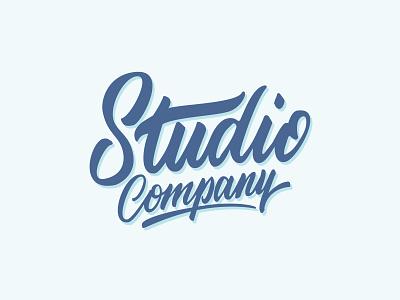 Studio Company Logo typography font script handwritten letters logo lettering hand lettering handlettering calligraphy branding