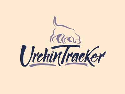 Urchin Tracker Logo pet dog handwritten typography letters lettering hand lettering handlettering calligraphy branding