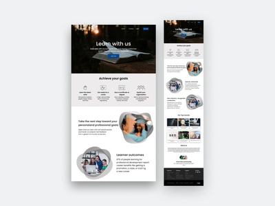 Learning Website Landing Page landingpage education company creative business ui animals corporate parallax onepage home movers event e-learning dashboard courses course classes bootstrap admin