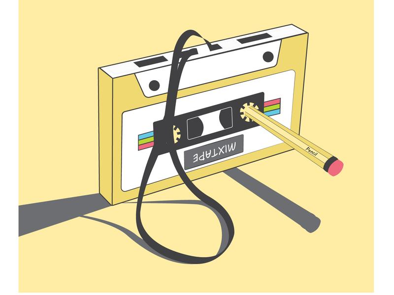 Tape creativity vector illustration
