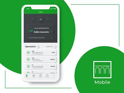Intesa San Paolo app -  neumorphic redesign interface design work graphicdesign apple app redesign ui ux webdesign neumorphism