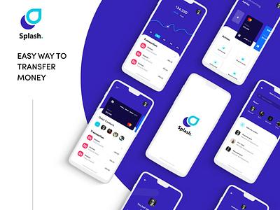 Splash. – transfer money app app ui uiux uxdesign 2020 app design figma app app design 2020 payment app uiux design app design mobile app design graphicdesign kamranali.designer kamranaligold kamranali-designer
