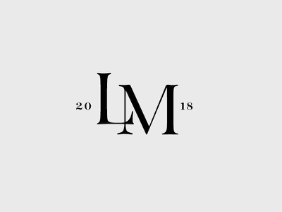 LM black and white daily logo custom logo branding monogram