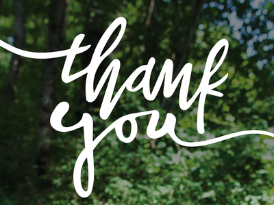 Thank You type hand lettering thank you vector