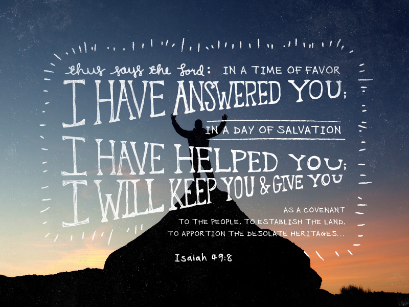 Isaiah 49 8 hand lettering type typography verse verse of the day dsgnhavn