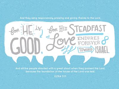 Ezra 3:11 verse of the day