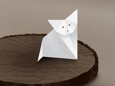 Paper Nori origami illustration