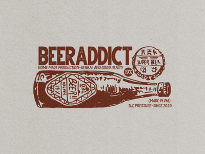 Pressure Beer badge design beer company