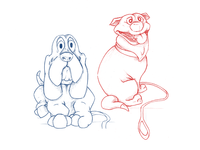 Sketching dogs