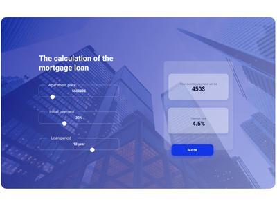 Mortgage calculator flat website web ux ui illustration design dailyui