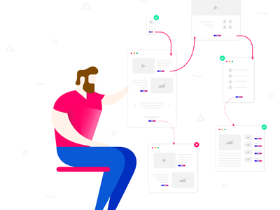 Designing an interface design illustration