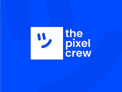"""The new logotype of """"The Pixel Crew"""" branding logo"""