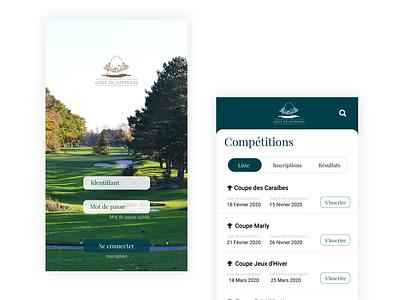 French Golf from Paris website design branding ux ui app