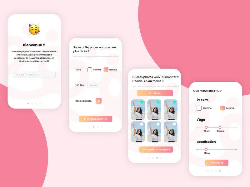 Onboard process android ios flat branding design ui ux app