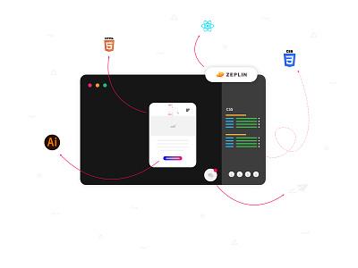 Zeplin app in vector web vector illustration design app