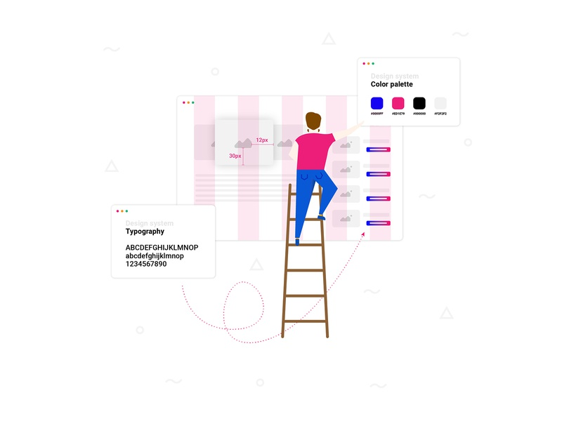 Design system vector web illustration design branding