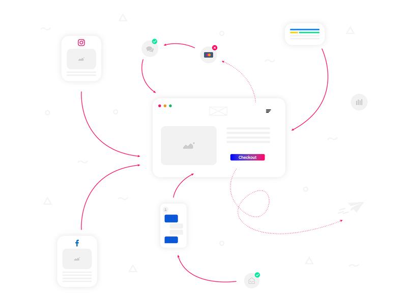 Process design illustration vector flatdesign