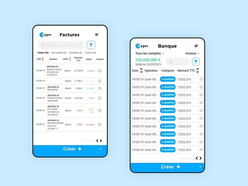 Wygos, accounting app flatdesign web flat logo ui ux design branding app