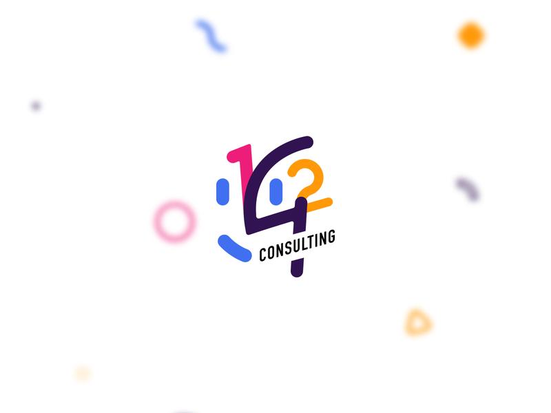142 Consulting branding logo design