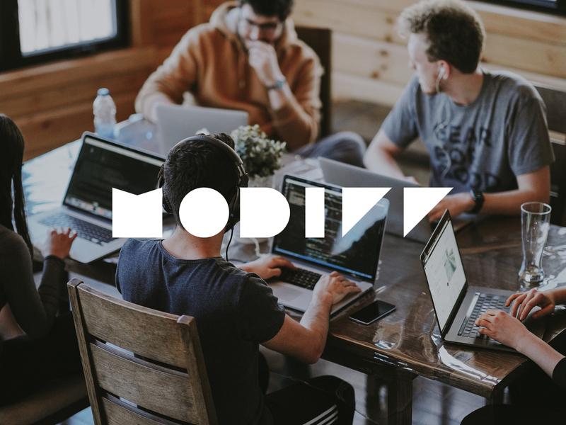 Modiff App logo web app branding design
