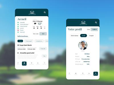 Golf de Joyenval app ux ui branding design