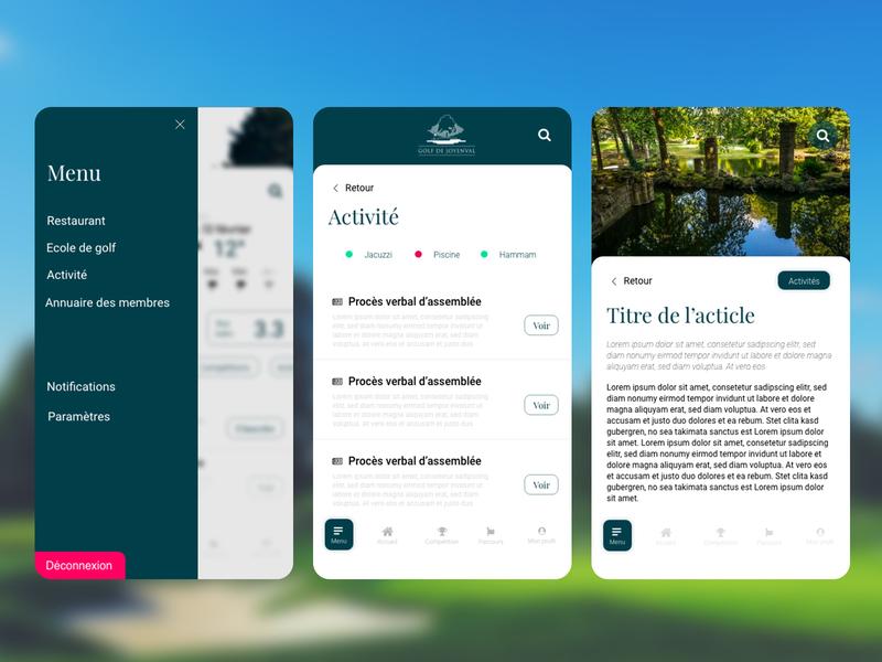 Gestion de la double navigation app ux ui design