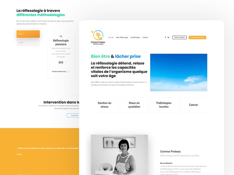 Corinne Proteau wordpress web design branding landing design landingpage