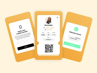Ticketing app ui