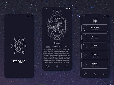 Simple daily horoscope app app design simple design zodiac sign zodiac horoscope