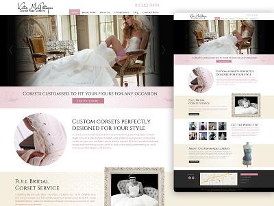 Web Design / Custom Made Corsets females lady pastel styling romantic pink corset clothes classic bridal beauty web website design website web design graphic design design