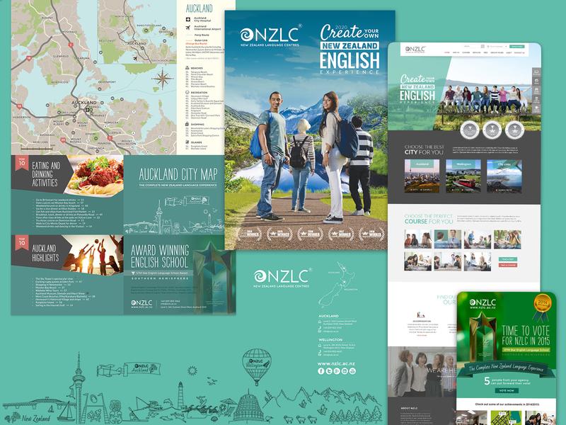 Brand & Web Design / NZLC illustration visual newsletter press logo map school education print brochure academy branding web website design website web design graphic design design