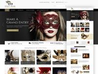 Web Design / Italy Mask party style gothic magic italian fashion beauty ecommerce web website design website web design graphic design design