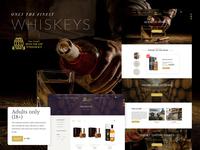 Web Design / House of Whiskey whisky whiskey drinks beverage retail alchohol web ecommerce website design website web design graphic design design