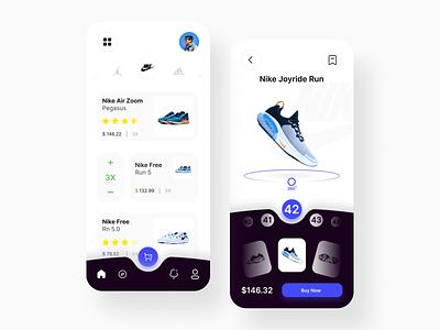 shoe store application card app credit cards credit card credit adobe nike shoes nike air nike design uixdesign figma shop shoes logo shooping shoes app shoes ui design uix ui  ux ui