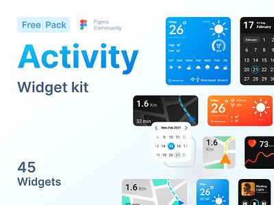 Activity Widget kit product designer ux uiux uix ui ios widget ios activity free product product freebie figma community figma figma ui free pack ui pack ui kit kit widgets widget