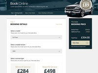 Mercedes Benz Servicing Redesign Booking