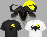 Dribbble illustration brand design branding clothing clothes lowpoly design animal art buffalo