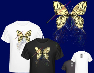 Dribbble animals animal butterfly black and white gold low poly clothing design branding clothing clothes lowpoly design animal art