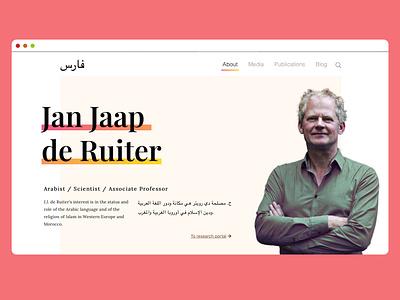 A scientist's personal website minimal ux typography web branding webdesign wordpress blog jquery javascript bootstrap wordpress development custom theme wordpress