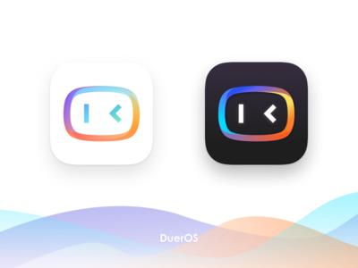 Logo for DuerOS logo chat bot ai