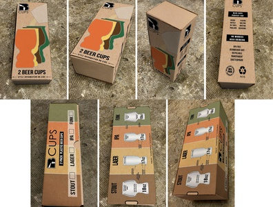 New 2 pack box mocked up packaging design