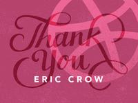 Thank You Eric Crow