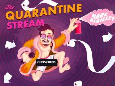 Quarantine Stream type coronavirus music stream quarantine the creative pain illustrator illustration vector