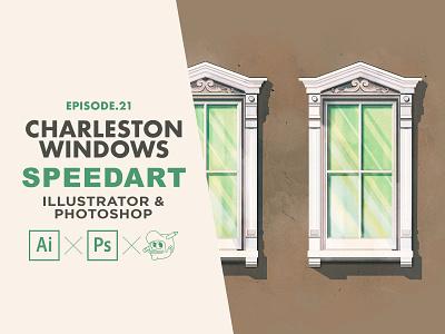 Charleston Window 2 Speedart [Adobe Illustrator & Photoshop] photoshop art windows charleston speedart tutorial the creative pain illustrator illustration vector