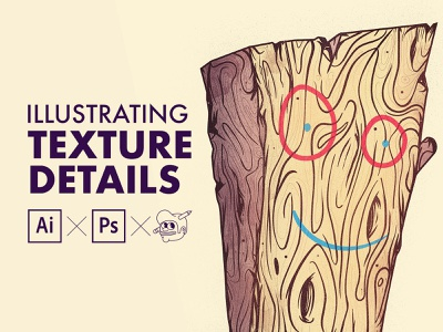 Illustrator & Photoshop Tutorial - Adding texture and details to wacom photoshop texture plank tutorials the creative pain illustrator illustration vector