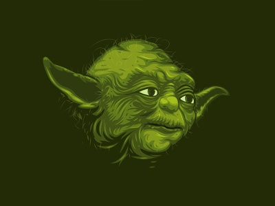 Yoda vector fanart force wacom adobe illustrator portrait maythe4thbewithyou starwars yoda