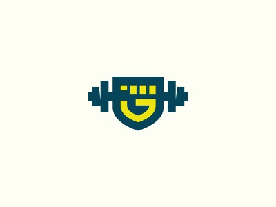 G weights lines g fist weights logo flat branding icons