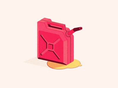 Torch it jerry can tourch gas can design the creative pain illustrator illustration vector